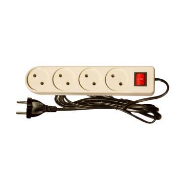 Uticon ST-248SW Stop Kontak [4 lobang/Saklar lampu/ Kabel/2 M]