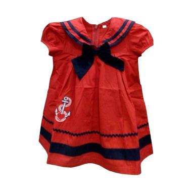 STB Kids Jangkar 2 Dress Bayi Perempuan - Merah