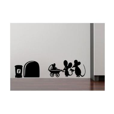 OEM Tikus Mouse Family Baby Wall St ... / Hiasan Dinding / Laptop