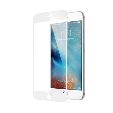 iStomp Tempered Anti Glare 4D Full  ... ctor for iPhone 7 - White