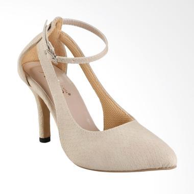 AliveLoveArts Eros High Heels Wanita - Cream