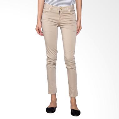 Bronco 2227 Slim Fit Chinos Celana Wanita - Khaki