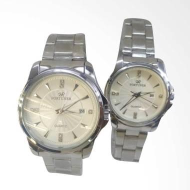 Fortuner Original Analog Couple Watch - Silver Metalic
