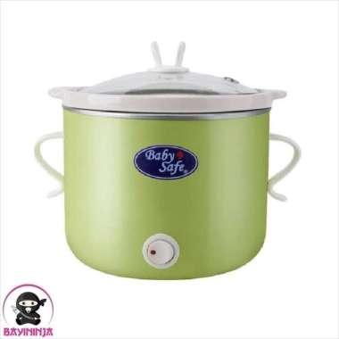 harga BABYSAFE Slow Cooker with Switch Alat Masak Bubur Bayi 800ml Green Multicolor Blibli.com