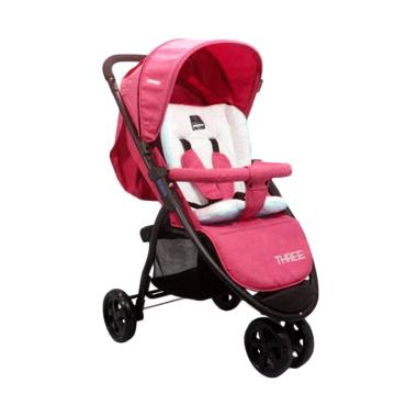 BabyDoes CH-463 Three Kereta Dorong Bayi - Merah