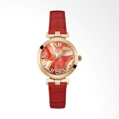 Guess Collection Y20004L3 Leather Strap Jam Tangan Wanita - Red Rosegold