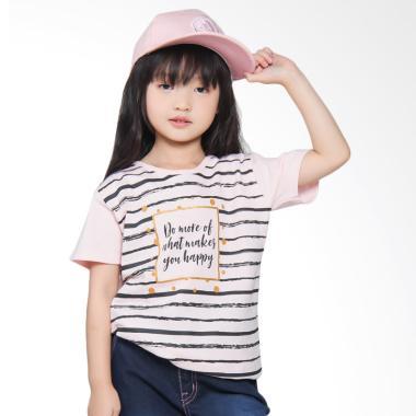 Versail S2067 Kids Junior Oblong Sablon Kaos - Pink