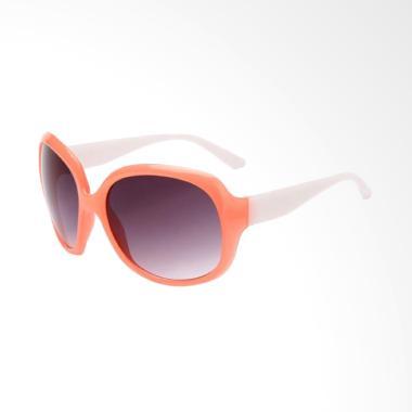 OEM SG178 Korea Frame Putih Pink Lensa Hitam Kacamata