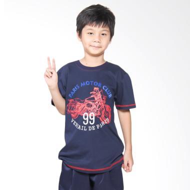 Versail Kids M2223 Kaos Oblong Junior Sablon - Navy