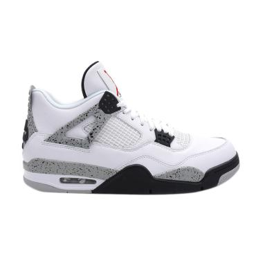 Nike Men Air Jordan 4 White Cement  ... s Pria - White 840606-192