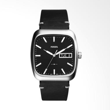 Fossil Rutherford FS5330 Jam Tangan Pria Black Leather Strap