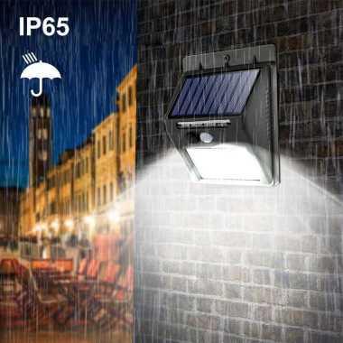 harga Lampu Solar Sensor Gerak Weatherproof 460 Lumens 6500K- L20 Hitam Blibli.com