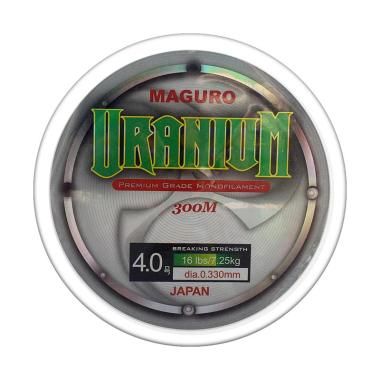 Maguro Uranium Line Monofilament Senar Pancing [0.33 mm]