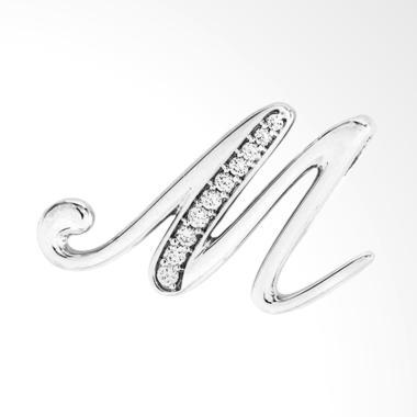 LINO P1606250130 Liontin Berlian Emas Putih [18K VVS]