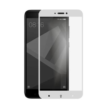 Tempered Glass Screen Protector for ... rime - Putih [Full Cover]