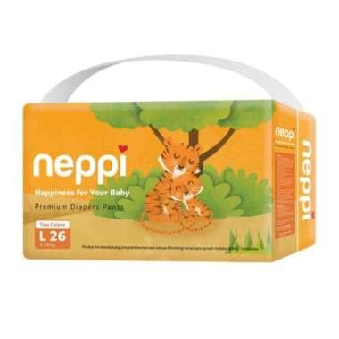 harga Terlaris Neppi Baby Diapers Pants Popok Bayi celana L ISI 26 Berkualitas Blibli.com