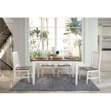 Artista Home Bellini 6 Kursi Cozy Fit Dining Sets - Milk Caramel