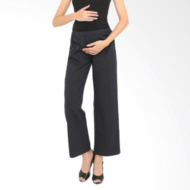 INUJIRUSHI Maternity Casual Pants Stripe - Black