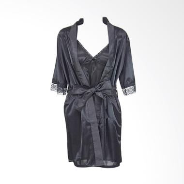 Deoclaus TSC For Bridal Shower Fash ... Kimono & Lingerie - Black