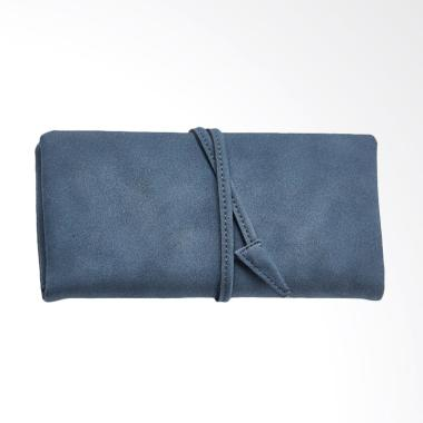 Aamour Arrow Binding Wallet Wanita - Dark Blue