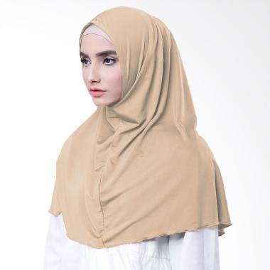 Najwa Hijab Kaos Katun TC Premium Jilbab Instan - Coklat susu
