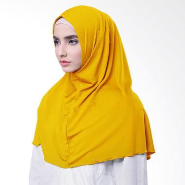 Najwa Hijab Kaos Katun TC Premium Jilbab Instan - Kuning
