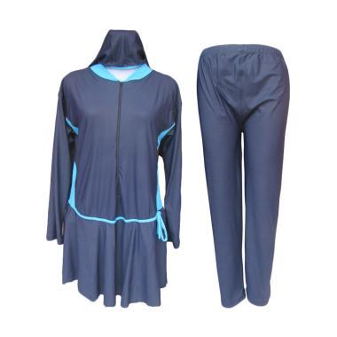 Rainy Collections Jumbo Baju Renang Muslim Wanita - Biru [8L]