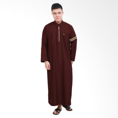Okechuku Jubah Nabawi Pakaian Gamis Pria - Maroon