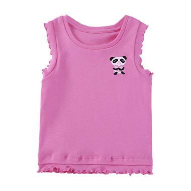 Mom N Bab Sleeveless Tee Hot Pink Panda Atasan Anak Perempuan