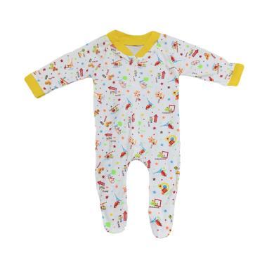 MomBaby Sleepsuit Panjang Tutup Kaki Pakaian Bayi - Kuning