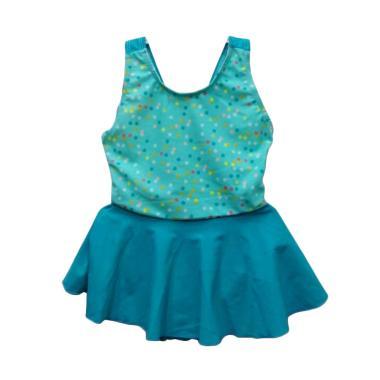 STB Kids Model Dress Baju Renang Bayi Perempuan - Corak Polkadot Hijau