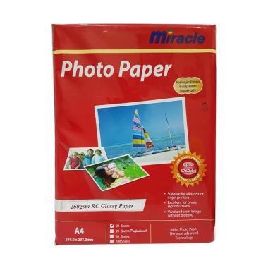 Miracle Premium RC Glossy Paper Kertas Foto [260 g]