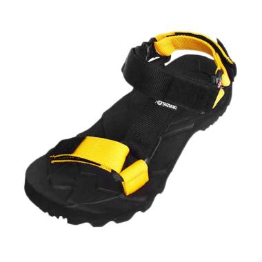 Suzuran Slop Sandal Gunung Pria - Black Yellow [MR1]