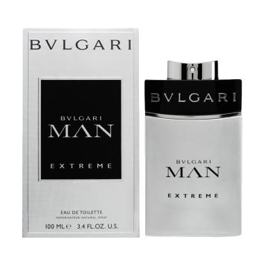 Bvlgari Man Extreme Eau de Toilette Parfum Pria [100 mL]