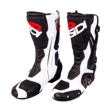 Sidi ROARR Touring Riding Boots Sepatu Boots - Black White