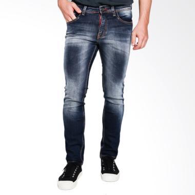 Cardinal Jeans Straight Slim CBCX00 ... g Pria - Blue Medium Dark