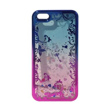 OEM Water Glitter Aquarium Motif Ba ... Phone 5 or 5s - Blue Pink