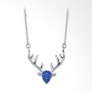 Tiaria Dearest Deer Saphire Perhiasan Kalung Emas [Emas 18K]