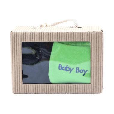 Cribcot Booties Plain Navy Blue & M ... me Green El Blue Gift Set