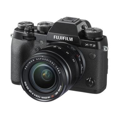 Fujifilm X-T2 with 18-55mm f 2.8-4  ... igital Camera Kit - Hitam