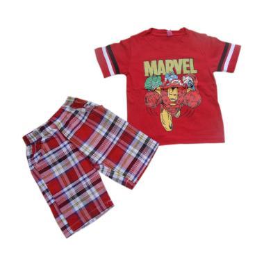 VERINA BABY Marvel Setelan Pakaian Anak Laki-laki - Red