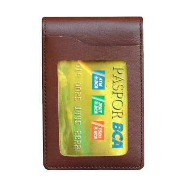 harga Leather Castle Name Tag Id Card Holder - Coklat Blibli.com