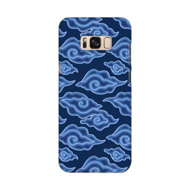 Premiumcaseid Batik Batik Corak Meg ... ung Galaxy S8 Plus - Biru
