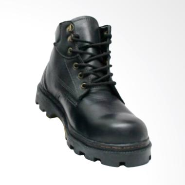 Handmade Safety Hiking Touring Sepatu Boot - Hitam