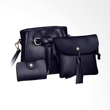 Lansdeal Women Set Fashion Handbag - Black [4 pcs]