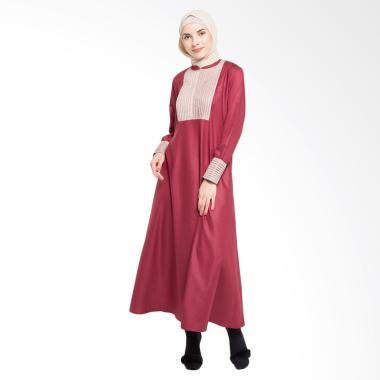 Allev Maimana Abaya Baju Muslim - Maroon