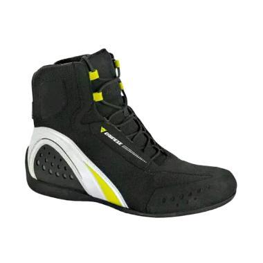 Dainese Motorshoe D-WP Shoes Sepatu Boots - Nero Bianco Giallo Fluo