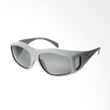 OJO Sport Fit Over Prescription Driving Fishing New Fashionable Wrap Glasses Sunglasses - Grey [I2I-6074]