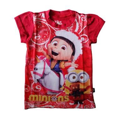 J2 Christmas Agnes Minion Kaos Anak - Merah