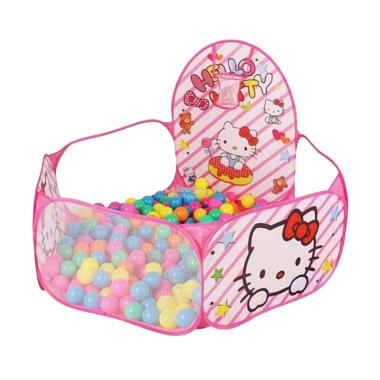 Best Hello Kitty Tenda Keranjang Mandi Bola Mainan Anak [50 pcs]